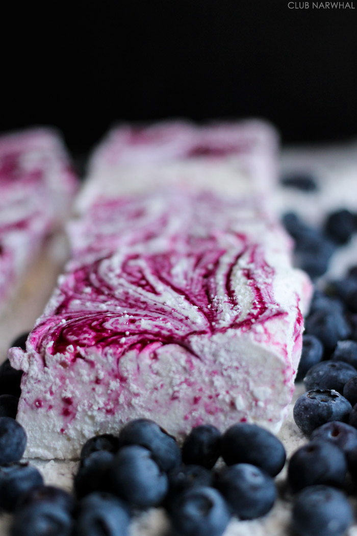 Fresh Blueberry Marshmallows | Club Narwhal