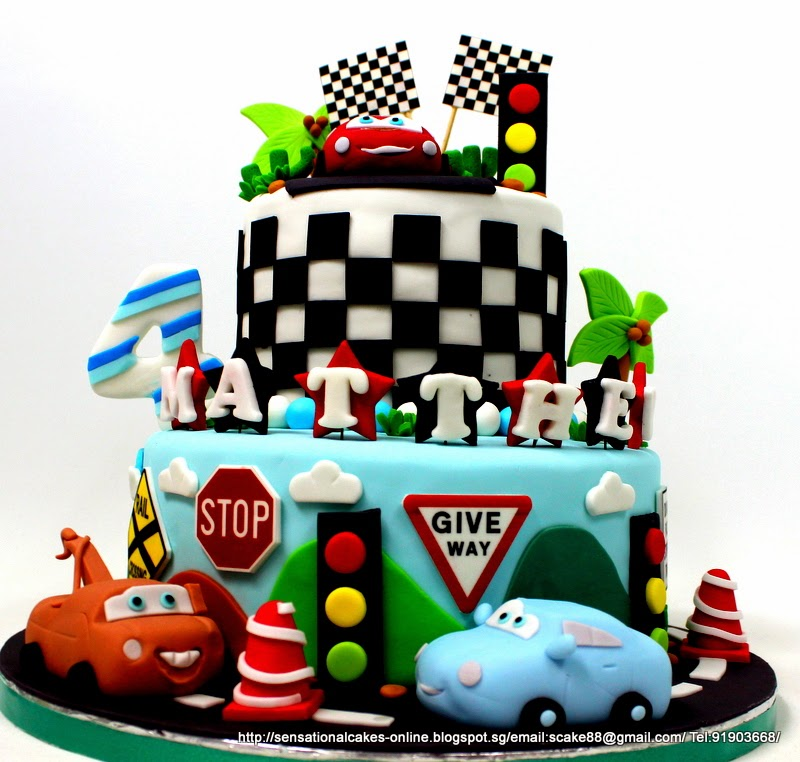 The Sensational Cakes Sports Car Racing Theme Birthday 3d Cake