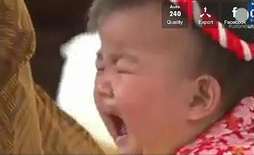 Concours de pleurs de Bébés au Japon