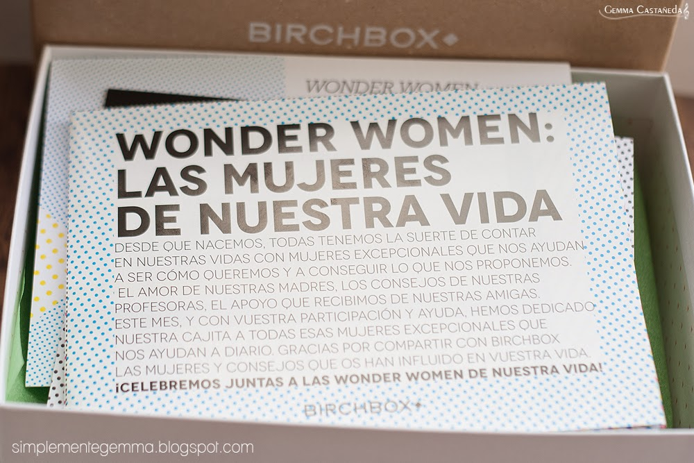 wonder women birchbox abril
