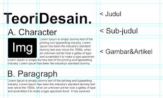 teknik penggunaan hirarki huruf