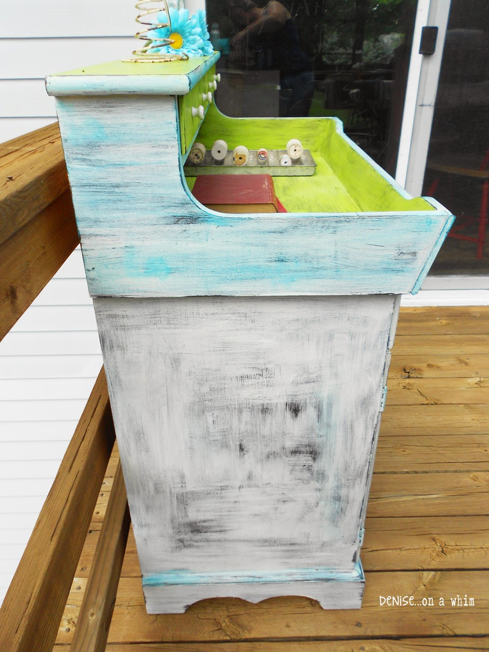 Shabby white paint finish by Denise On a Whim