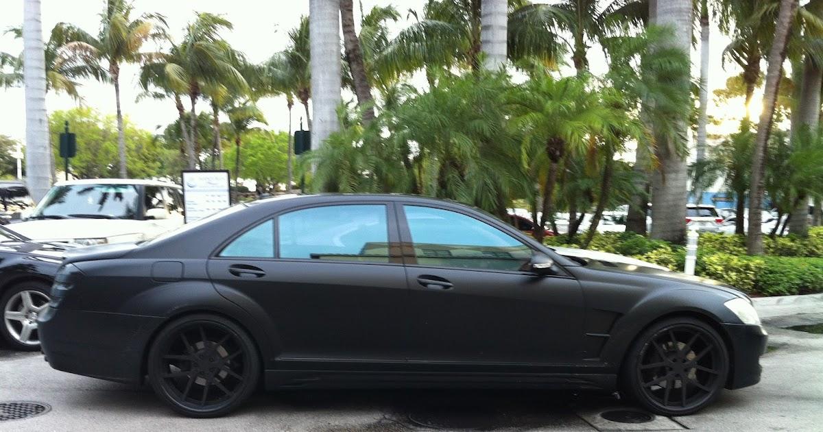 Matte Black S-Class Mercedes