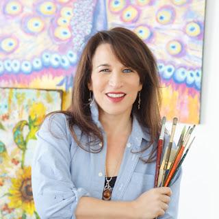 artist Miriam Schulman in her  art studio www.schulmanart.com