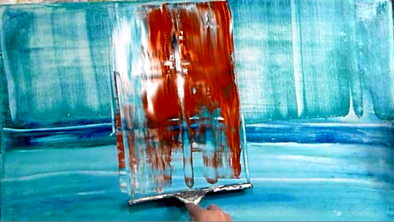 Abstract art modern painting techniques by peter dranitsin for Acrylic mural painting techniques