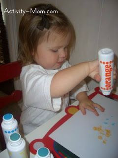 The perfect art activity for one-year-old's - dot art!