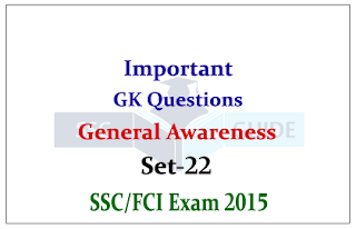 General Awareness Quiz – For SSC/FCI Exams