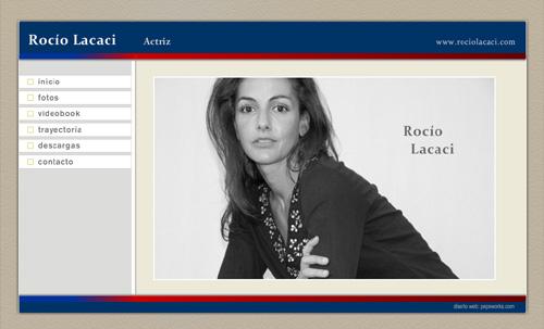 página web oficial de la actriz Rocío Lacaci, diseñada por pepeworks