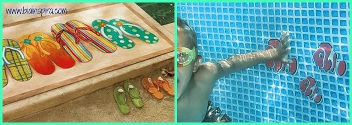 adesivos para decoração de ambiente externo, piscina. quintal