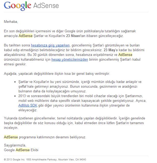 Google Adsense Kural Değişikliği ve Yeni Reklam Birimi