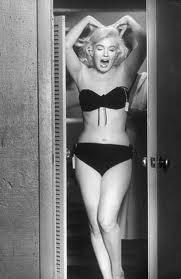 marylin monroe, bikini negro vintage, armario