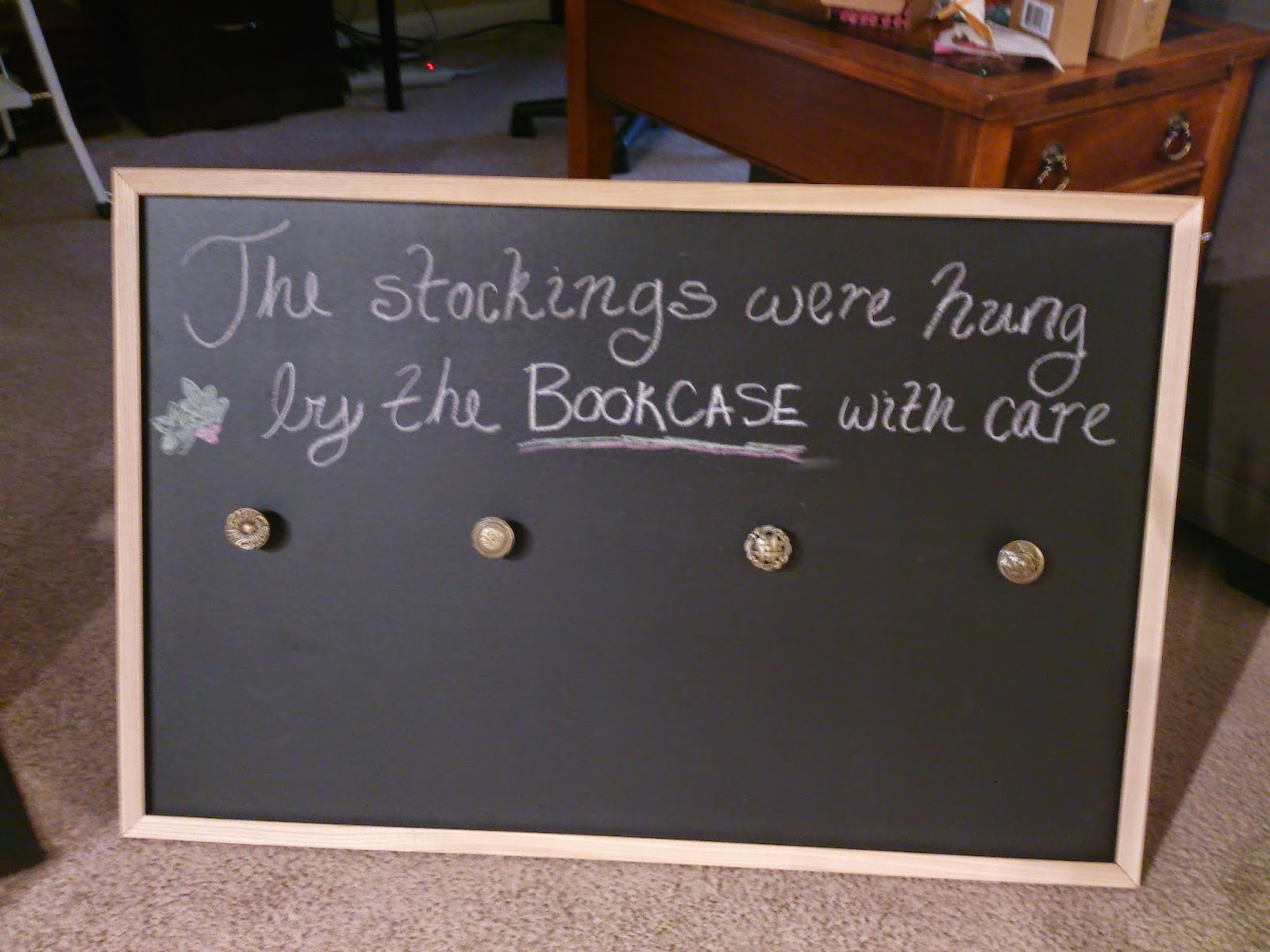 Crafting With Court Chalkboard Stocking Wall Hanger