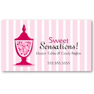 Business card showcase by socialite designs candy buffet business cards todays featured business card design is for the candy buffet caterer the candy jar image is movable and resizable to suit your business name and colourmoves