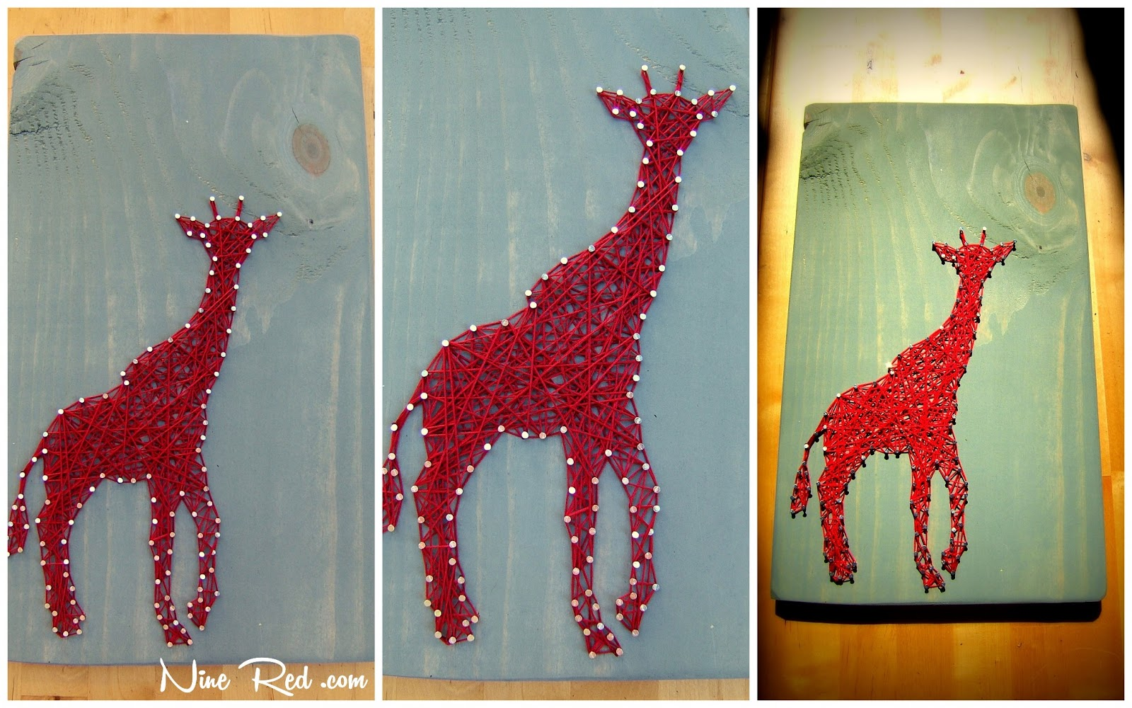 Giraffe String Art Tablet