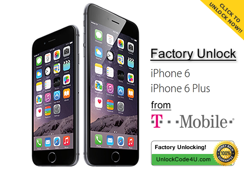 Factory Unlock Code for iPhone 6 and iPhone 6 Plus from T-Mobile