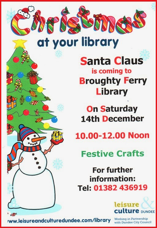 Santa is coming to Broughty Ferry Library December 2013