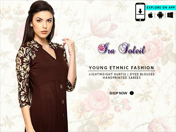 Myntra : Buy Era Soleil Ethinic fashion clothings at upto 40% discount
