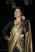 Anchor Shila Chakravarthy latest black saree Photos-thumbnail-17