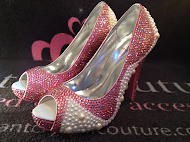 Wholesale Pink Crystal & Pearl Shoes