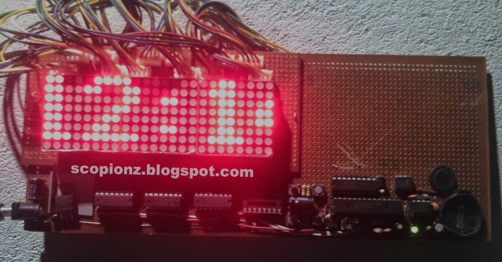 8x32 LED Matrix Clock