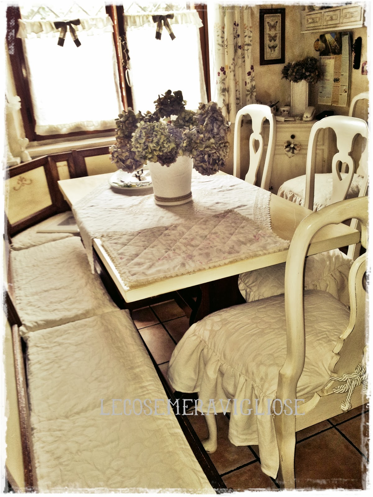 Lecosemeravigliose shabby e country chic passions tende - Cuscini per cucina country ...