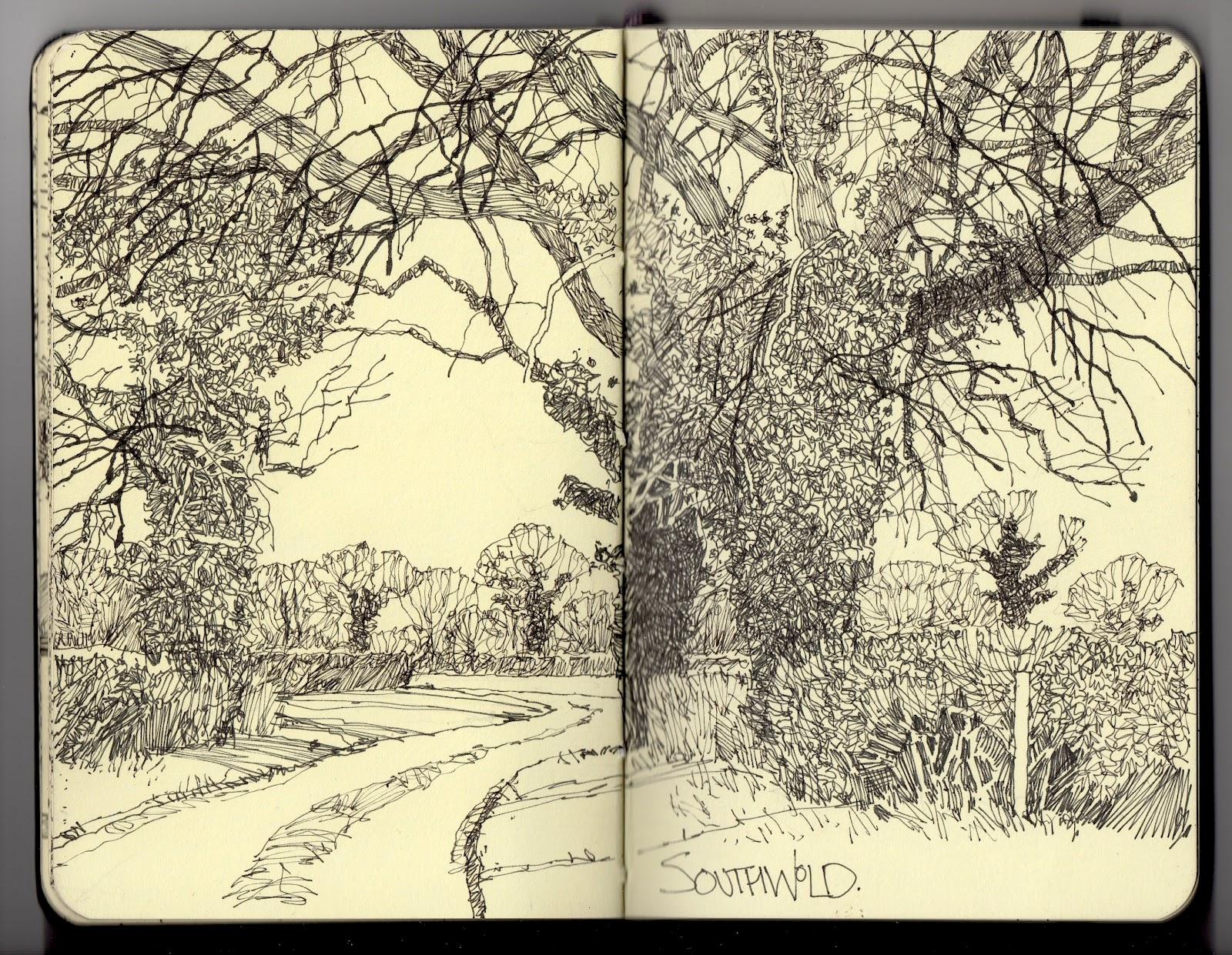 Fine Line Art : Ian sidaway fine line southwold