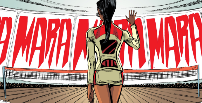 """Detalle del cómic """"Mara"""" de Brian Wood"""