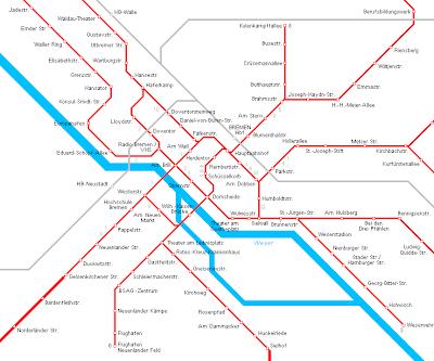 Bremen Mapa de Metro