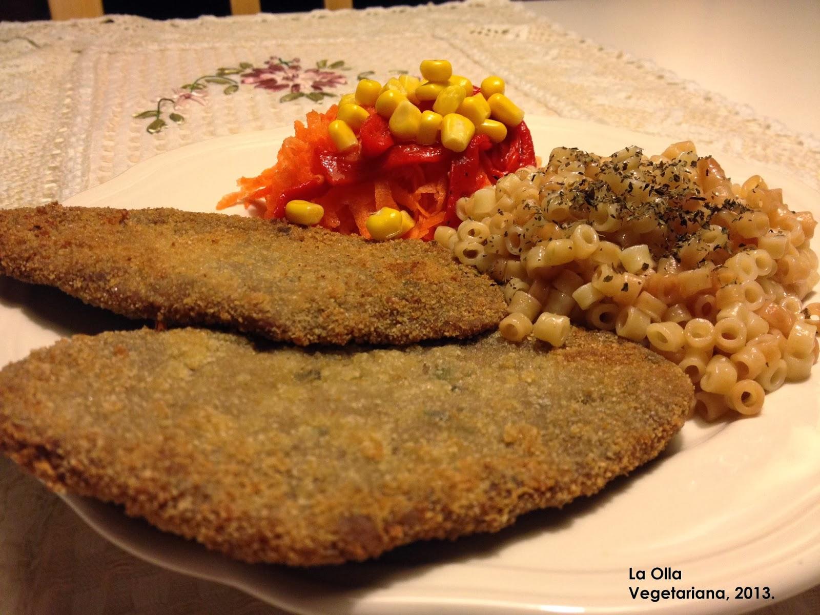 La olla vegetariana filetes de seit n empanados con for Como cocinar seitan