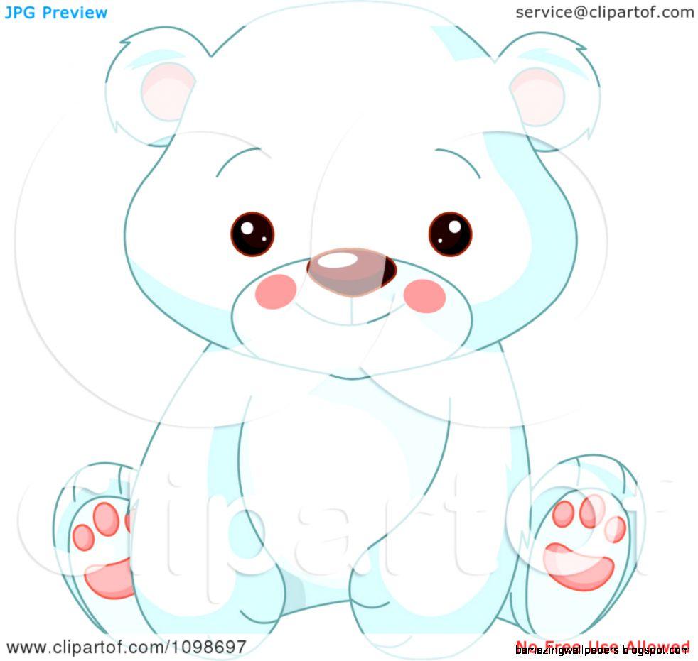 Cute Polar Bear Christmas Clipart   Clipart Kid