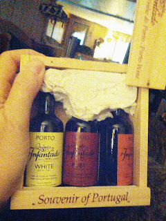 small boxed set of wine