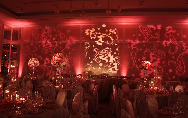 Color Wash Wedding Lighting