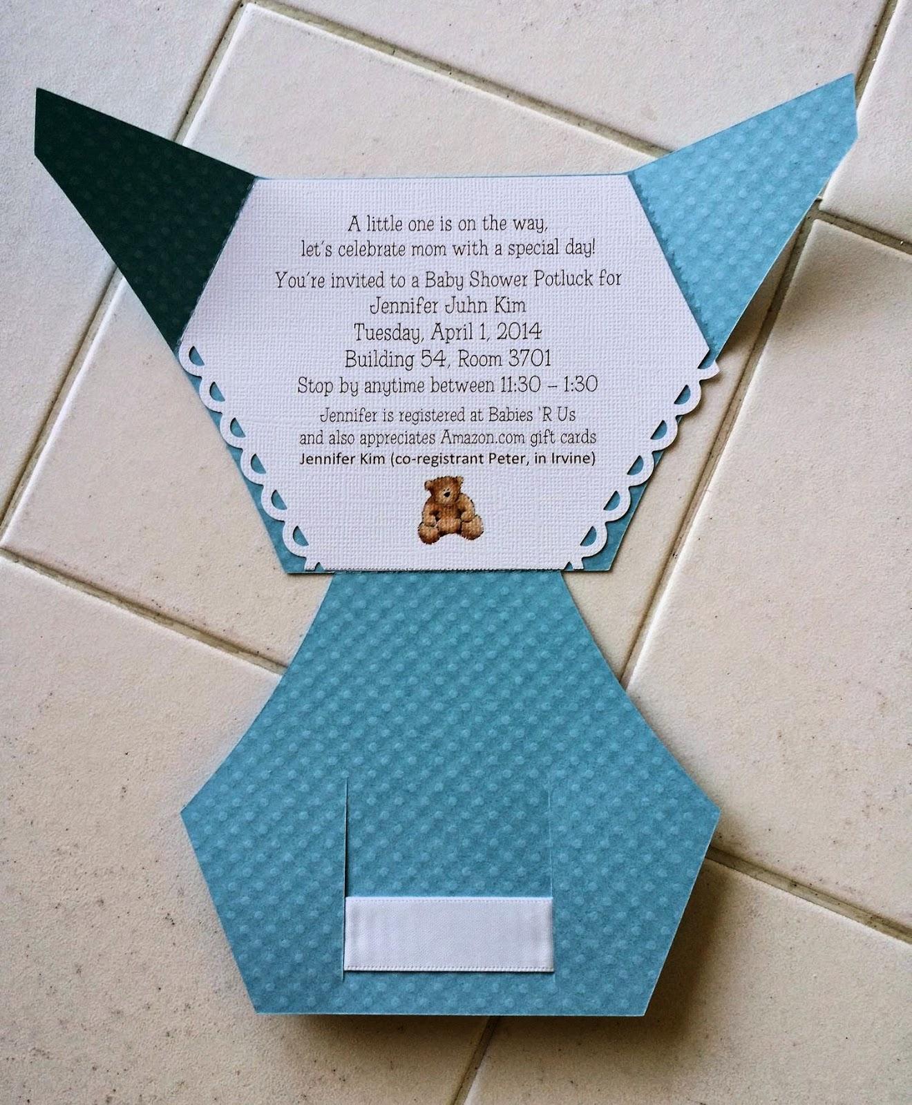 how to make homemade onesie baby shower invitations
