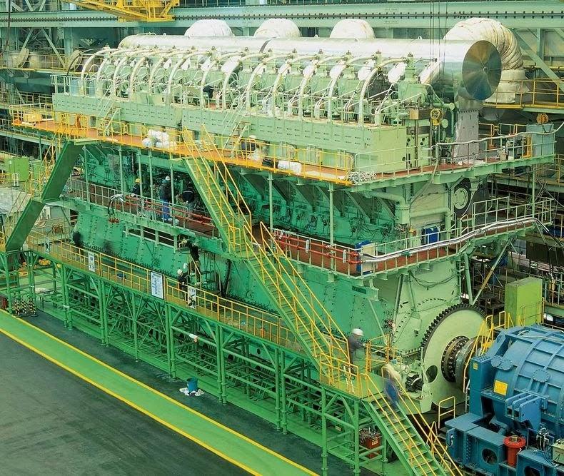 Injin diesel terbesar dan paling berkuasa
