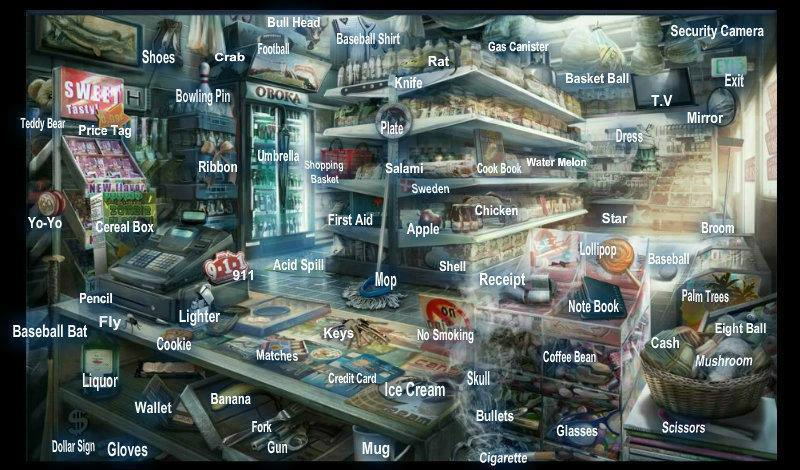 Case 2 Mini Market With Hint Criminal Case Objects