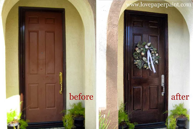How to paint wood garage door ayanahouse for Faux wood front doors