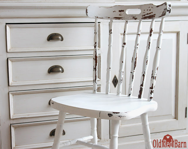 MMS Milk Paint Tutorial: brocante stoeltje