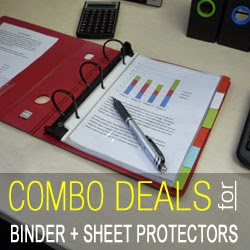Buy Keepfiling Binder and Sheet Protectors Combo