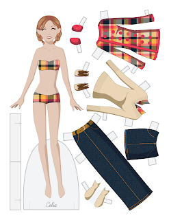 Celia - Fashion Friday Paper Doll