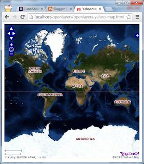 Membuat Aplikasi Web Peta OpenLayers untuk Menampilkan Yahoo Map