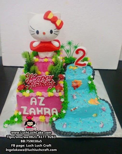 Kue Tart Ulang Tahun Hello Kitty Lucu Daerah Surabaya - Sidoarjo