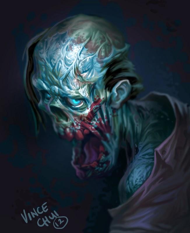 illustration de Vince Chui représentant un zombie
