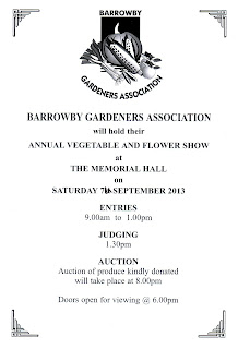 Schedule/programme for barrowby gardeners association annual show