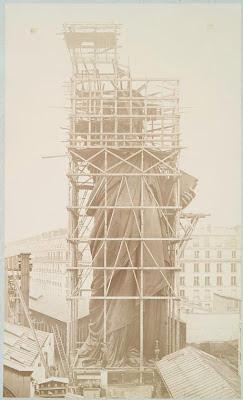fotos reales construcción de la Estatua de la Libertad curiosidades