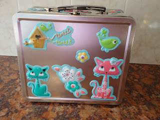 Top Enders Lunchbox decorated with her Unbirthday stickers