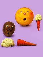 Фунийка сладолед от морков и карфиол