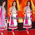 Amrita Rao in White Sleeve Less Salwar kameez