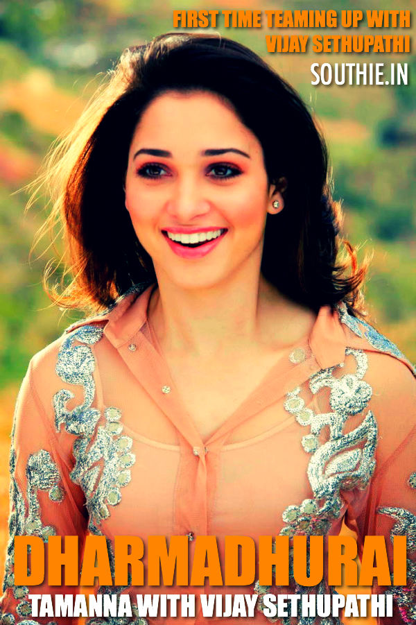 Tamanna teams up with Vijay Sethupathi for Dharmadurai. Tamanna who is on a roll is playing heroine for Vijay Sethupathi for the first time. Vijay Sethupathi, tamanna, Dharmadurai, Latest news, of Tamanna,