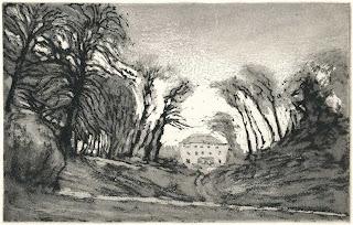 Ekkhard Bartsch: Schloss Wulkow, Radierung, 2000