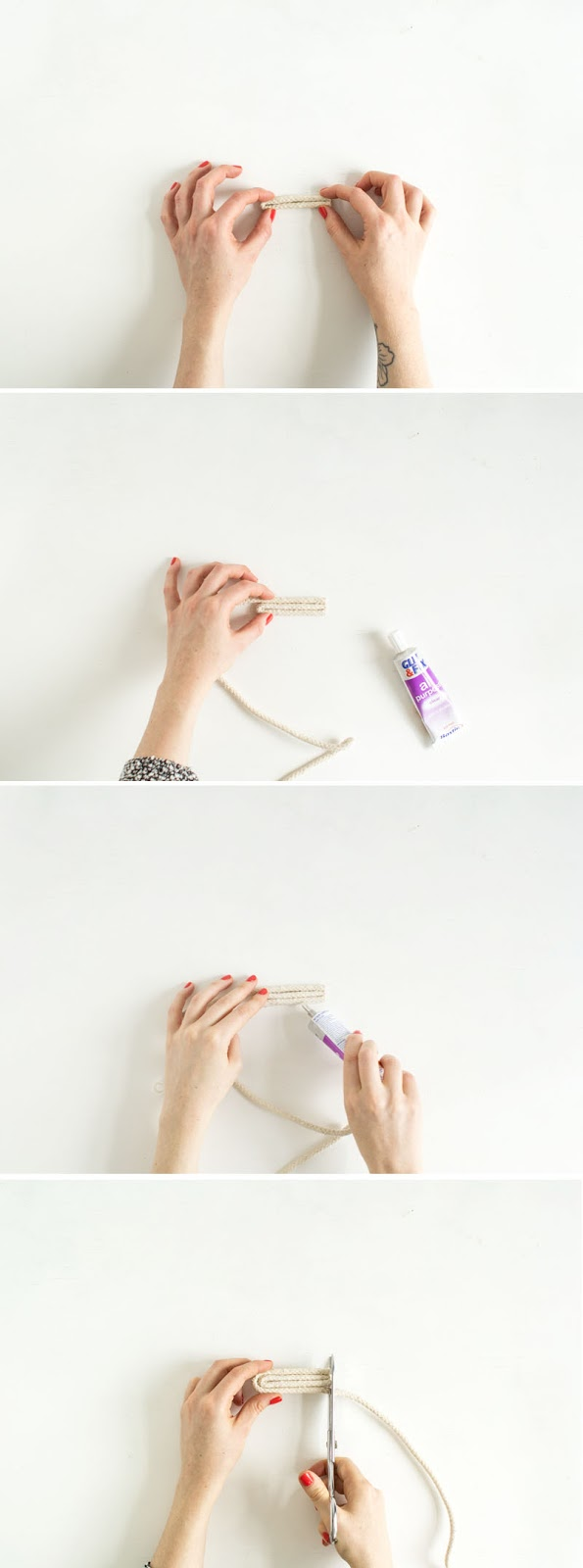Diy salvamantel de cuerda